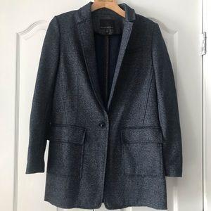 Banana Republic Blue Wool Felt Coat Jacket XS